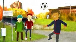 Hjalmar och flytten är en radionovell i fem delar av Augustpristagaren Ann-Helén Laestadius och handlar om en fotbollskille från Stockholm som flyttar till Kiruna och bosätter sig i Snusdosan.